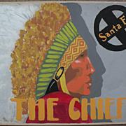 SALE PENDING Original advertising art circa 1940's for Santa Fe Railroad signed by artist