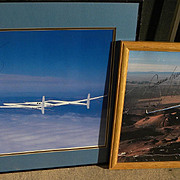 Aviation memorabilia pilot Jeana Yeager personally hand signed photograph of the Voyager first round the world nonstop flight without refueling