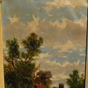 ABRAHAM HULK JR. (1851-1922) English landscape painting by well known listed artist