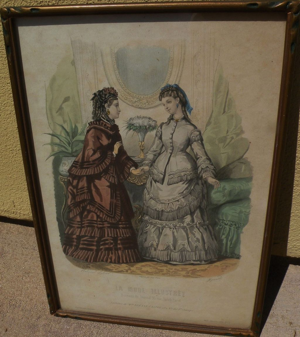 French Victorian fashion print from La Mode Illustree circa 1875