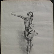 After JOHN SINGER SARGENT (1856-1925) circa 1920 lithograph print  of Gloria Vanderbilt Whitne