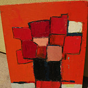 W. DIETER ZANDER (1915-) modernist still life painting on board by noted gallery artist