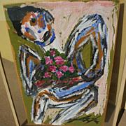 "JESUS ""CHUCHO"" REYES FERREIRA (1882-1977) modern Mexican art expressionist painting"