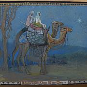 Vintage Wise Men illustration art by California artist FREDERICK MILLSON