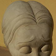 Celebrity provenance plaster bust sculpture of woman of African heritage