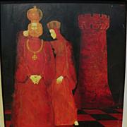 Russian modernist surrealist painting artist unidentified