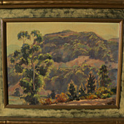 JOE WAANO-GANO (1906-1982) California plein air mountain landscape by noted artist of Native .