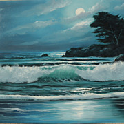 Decorative impressionist contemporary seascape painting