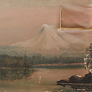 Northwest American art restorers special volcano landscape painting