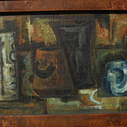 LUIS TOLEDO (1929-2007) Mexican 20th century art modernist still life painting dated 1964
