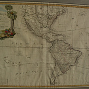 "Large nicely framed 1784 antique map ""L'Amerique divisee en Ses principaux Etats"""