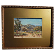 JOSEPH P. FREY (1892-1977) California plein air art watercolor landscape painting