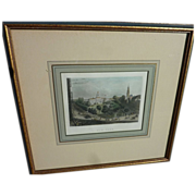 "Antique circa 1850 hand colored engraving ""New York"" nicely framed and matted"