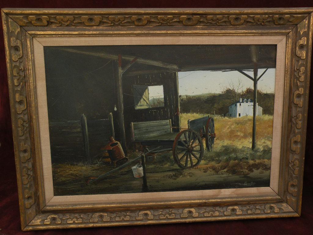 AUSTIN DEUEL (1939-) Texas Southwest art realism western tempera painting