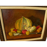 "MARTIN ""Marty"" KATON (1946-) contemporary realism still life painting by acclaimed a"