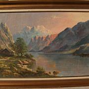 Hudson River style landscape art oil painting signed DAVID DUNDAS
