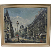 Paris impressionist street scene beautifully painted by artist Rosis dated 1961