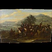 "Style of JACQUES COURTOIS (""Il Borgognone"", Italian-French, 1621-1676) battle scene"