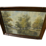 GEOFF H. FLAVELLE (1863-) American watercolor coastal seascape painting