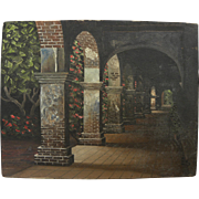 EUGENE SCHMIDT (1919-2007) painting of Mission San Juan Capistrano by noted California artist