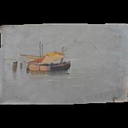 GEORGE WAINWRIGHT HARVEY (1855-1930) delicate watercolor drawing of Venice Lagoon circa 1880