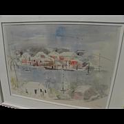 SALE PENDING ALFRED BIRDSEY (1912-1996) Bermuda art watercolor and gouache painting