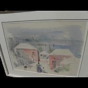 SALE PENDING ALFRED BIRDSEY (1912-1996) original watercolor painting by noted Bermuda artist