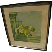 ALFRED J. MUNNINGS (1878-1959) highly important British equestrian sporting art PENCIL SIGNED print