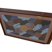 Australian aboriginal art dot painting by artist POLLY PUNTJUNTA