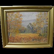 American impressionist circa 1930 autumn landscape painting