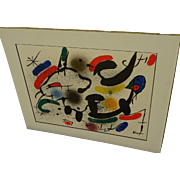 JOAN MIRO (1893-1983) original lithograph print by the famous Spanish modern artist
