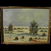 KENNETH WALFORD (20th century California) plein air desert painting