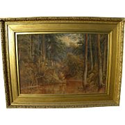"JOSHUA RENSHAW (fl. 1880-1890's) large impressive English watercolor landscape painting """