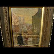 ESTELLE M. KERR (1897-1971) Canadian art rare circa 1920 beautiful impressionist painting of a