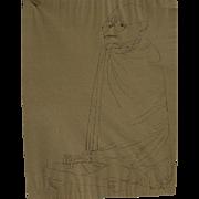 BEN SHAHN (1898-1969) hand signed and inscribed magazine page image after artist's original li