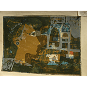 """AUGUSTIN UBEDA (1925-2007) Spanish contemporary art signed limited edition lithograph print """""""