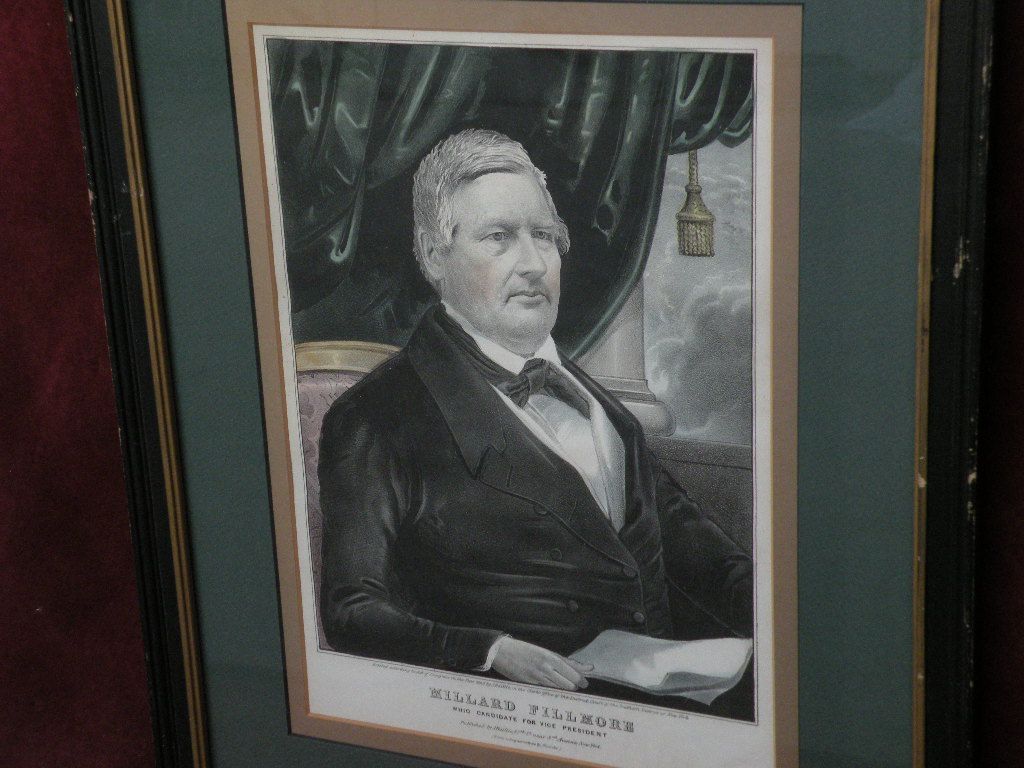 American lithograph print 1848 MILLARD FILLMORE by J. Baillie Currier & Ives competitor