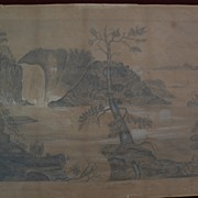 Canadian art 1871 pencil drawing of Montmorency Falls Quebec charmingly folky and rare ...