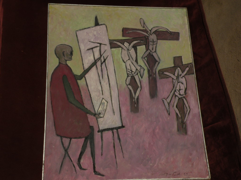 ERNST FRITSCH (1892-1965) important modern German expressionist art elegant large museum quality oil painting