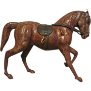 Leather Clad Model Stallion Horse