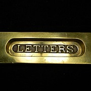 """Vintage Brass """"Letters"""" Drop Slot"""