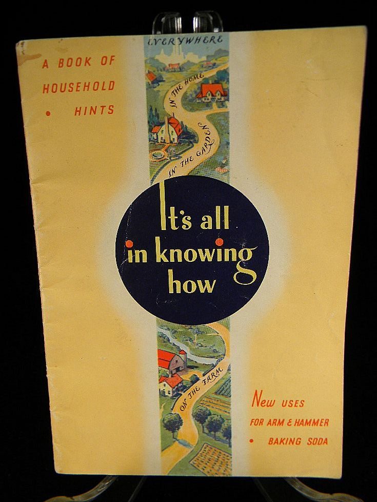 1934 Arm & Hammer Book of Household Hints