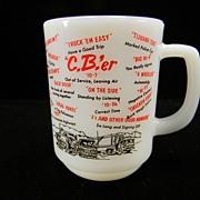 Vintage Fire King CB'er Mug