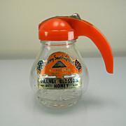 Vintage Sunny South Apiaries Orange Blossom Honey Dispenser with Original Label