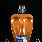 Vintage Bascal Aluminum Drip Spoon Rest with Original Label