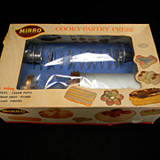 Vintage 1950's Mirro Cooky & Pastry Press 358AM in Original Box with Original Price Sticker