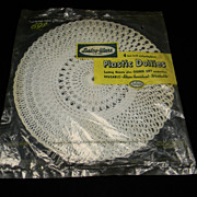 "Vintage White Lustro-Ware 10"" Doilies in Original Packaging"