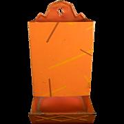 Unique Vintage Salmon-Colored Match Safe