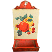 Vintage Apples & Cherries Match Safe