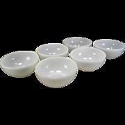 Six Fire King Anchorwhite Chili Bowls